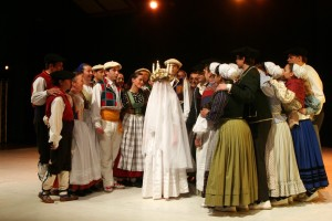 danse, bougie, basque, danse basque, costumes